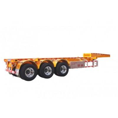 锣响20英尺骨架车 鹅颈骨架车 三轴集装箱式骨架车