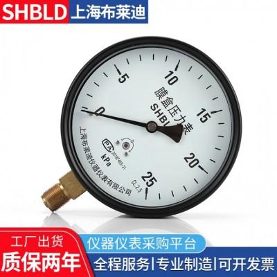 布莱迪压力表YE-100B不锈钢膜盒压力表0-2.5Kpa