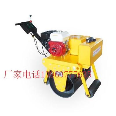 手扶式单轮震动压路机轮径中小型震动碾沟槽压实机