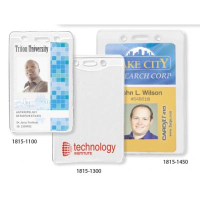 广州卡套贝迪透明软身证件卡套竖式